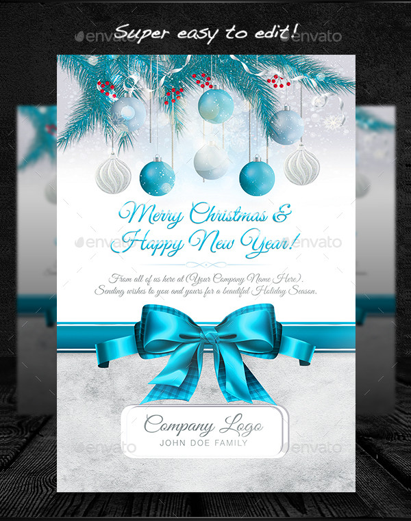Popular Christmas Greeting Card Template
