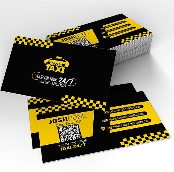 City Cab Driver Business Card Template