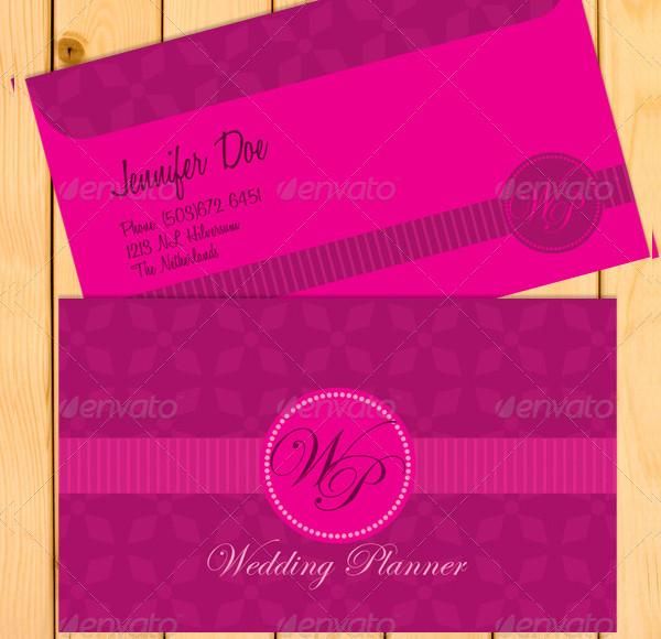 Classic Wedding Planner Business Cards