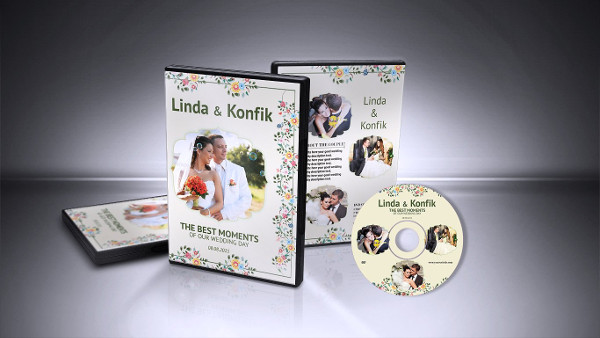 Clean Wedding DVD Cover Template