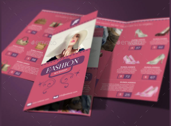 Clean Fashion Shop Brochure Template