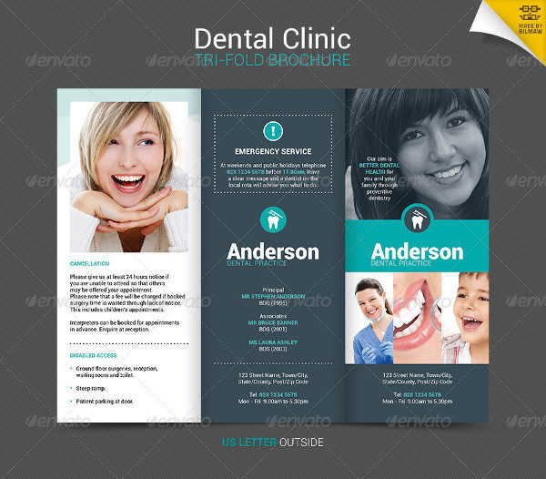 21 dental brochure templates free premium download for Clinic brochure template