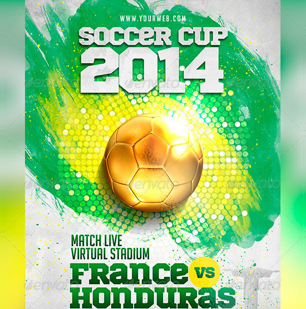 Professional Soccer Cup Flyer PSD