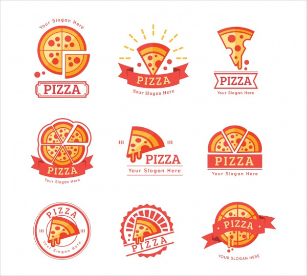 Colorful Pizza Shop Logo Templates Free Vector