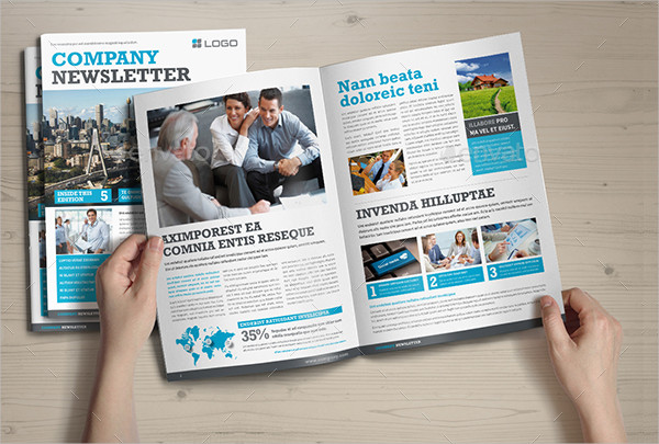 Powerful Template for Company Newsletter