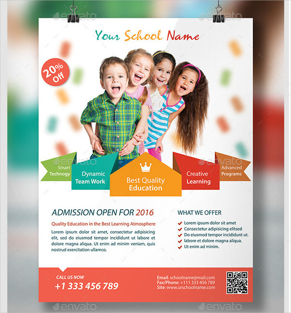School Flyer Templates Free Premium Download - High school brochure template