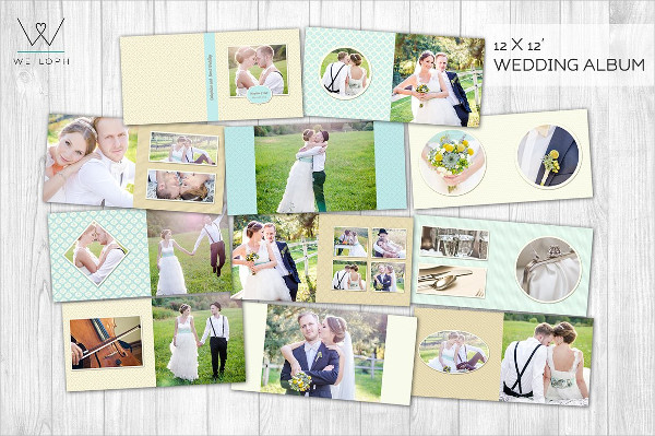 Creative Wedding Book Album Templates for Photographers