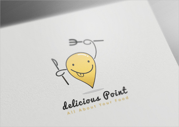 Delicious Pizza Shop Logo Template