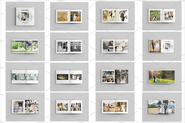 Editable Wedding Photo Album Template