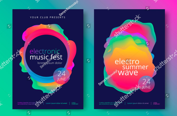 Electronic Music Fest Poster Template