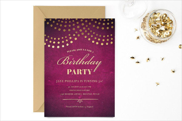 50th birthday invitation templates 21 free premium download elegant 50th birthday party invitation template stopboris Choice Image