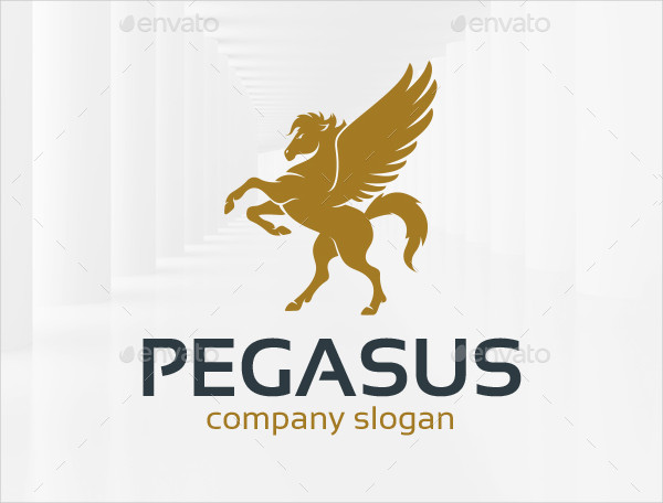 Elegant Pegasus Real Estate Logo Template