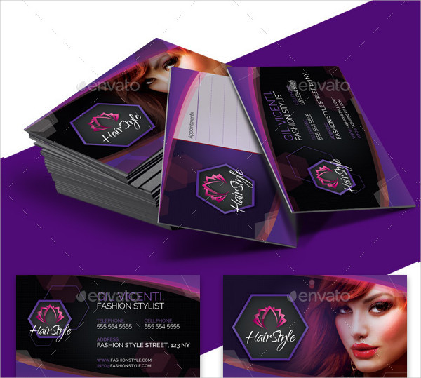 Fashion Hair Stylist Business Card Template