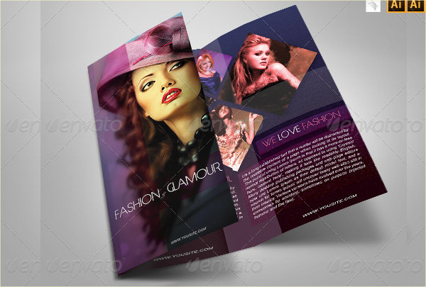 Fashion Glamour Brochure Template Design