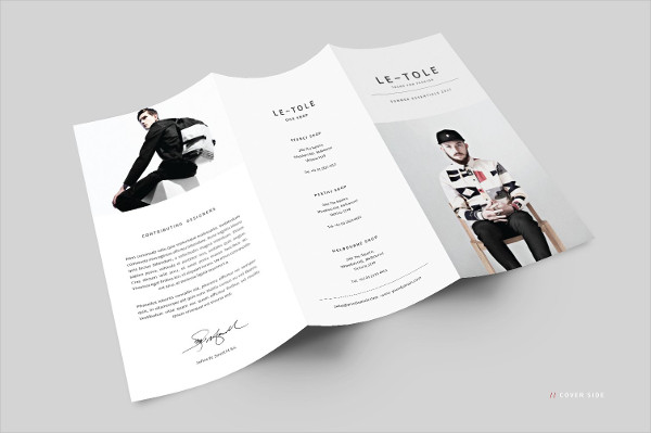 Fashion Catalog Trifold Brochure Template