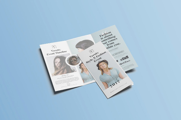 Fashion Event Tri-Fold Brochure Template