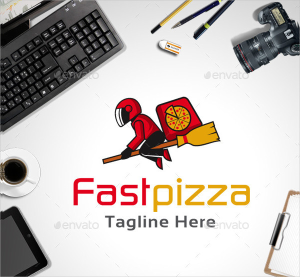 Fast Pizza Shop Logo Template