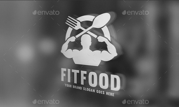 Fitness Food Business Logo Template
