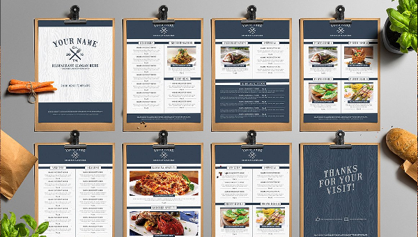 Free Food Menu Template  OloschurchtpCom