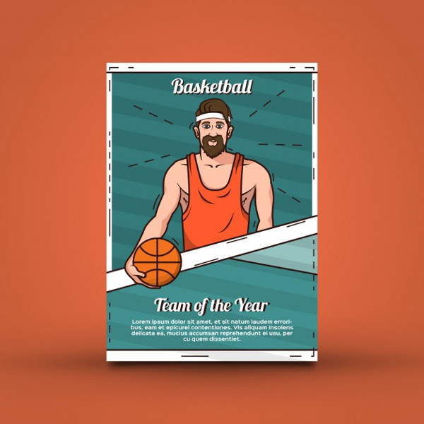 Free Basketball Competition Poster Template