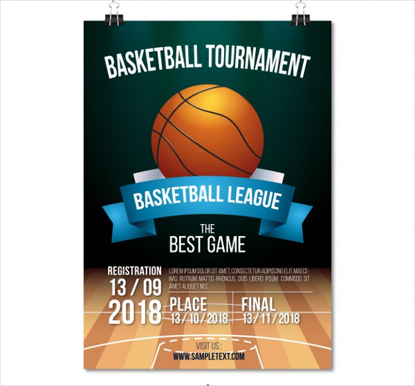 Free Basketball Tournament Poster Template