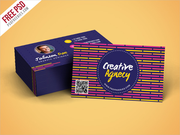 Free Creative Agency Business Card Template PSD
