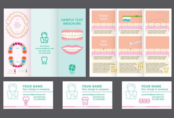 Free Dentist Fold Brochure Vector