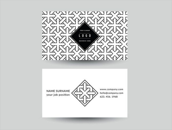 Free Geometric Business Card Vector