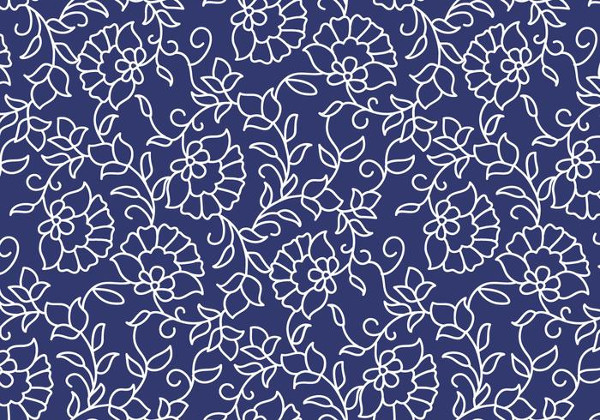 Free Outline Floral Pattern