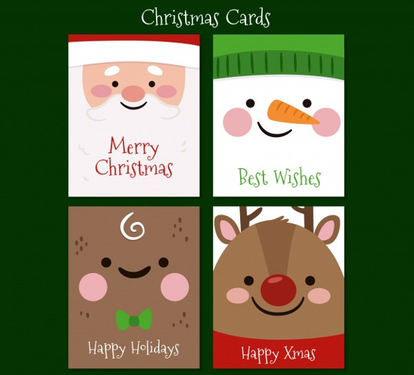Free Vector Christmas Greeting Cards