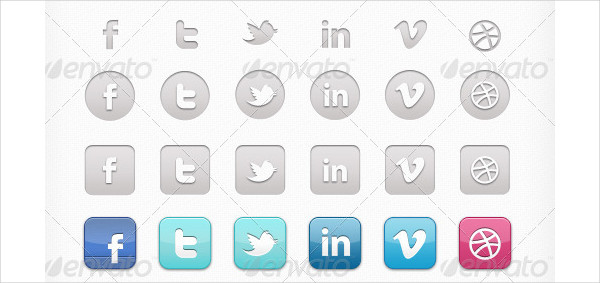 Perfect Designed Social Icons & Social App Icons