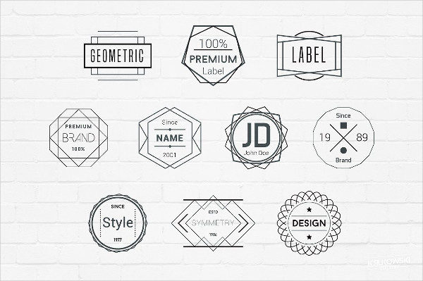 Geometric Badges Logos