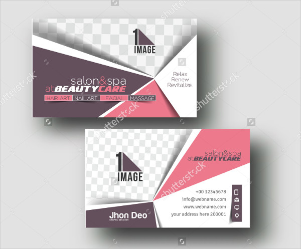 Beauty Care Business Card Template Design