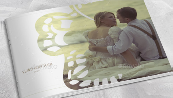 Wedding Photo Album Horizontal Brochure Template