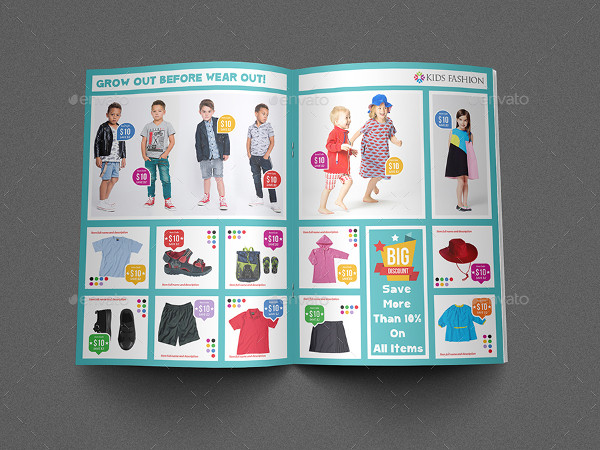 Kids Fashion Products Brochure Template