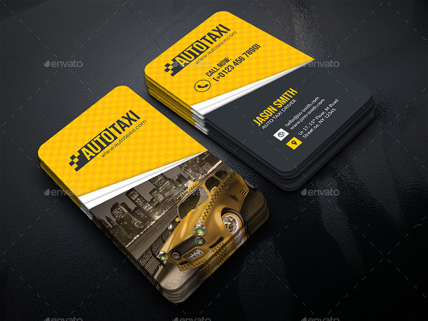 Luxury Auto Taxi Business Cards