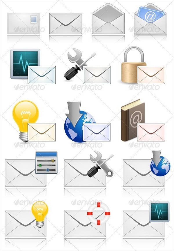 Mail Marketing Vector Icons