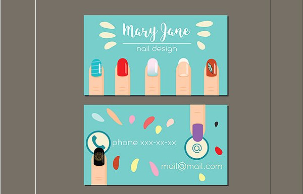 Manicure Nail Salon Business Card Template
