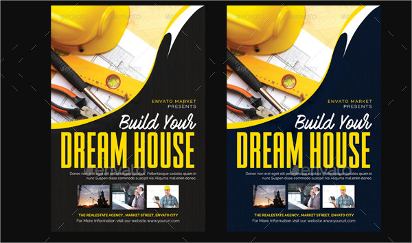 Marketing flyer for xyz construction