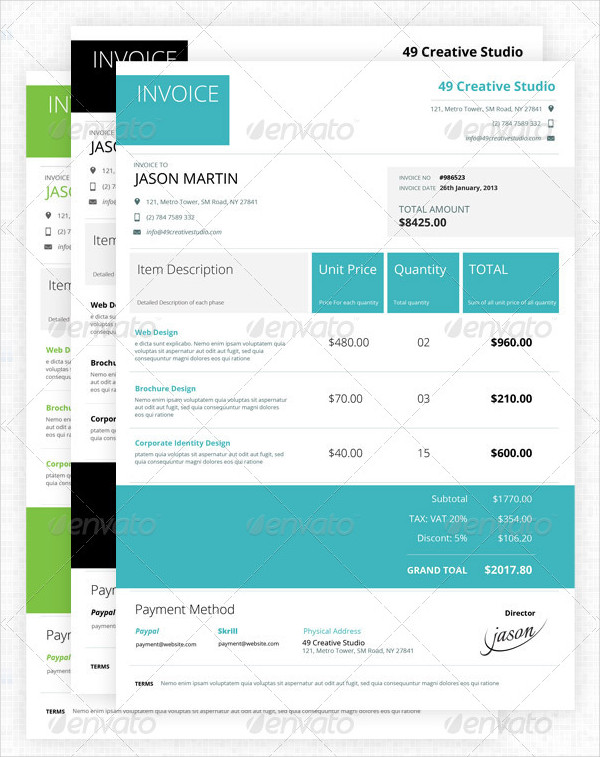 Metro Syle Business Invoice Template