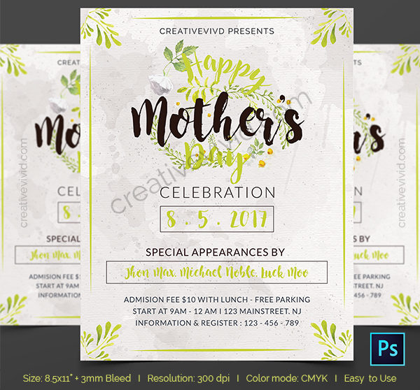 I Love You Mom Happy Mothers Day Flyer Template Psd Free: 25+ Mother's Day Flyer Templates