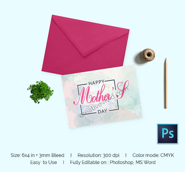Mother Day Greeting Card Design Free