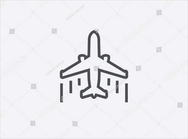 Modern Airplane Icon Vector