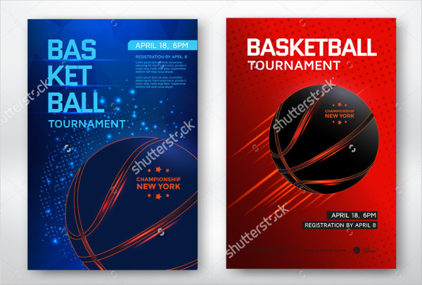 Modern Basketball Posters Design Template