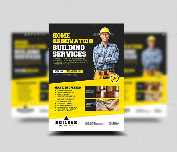 31 construction flyer templates free premium download for Modern design building services