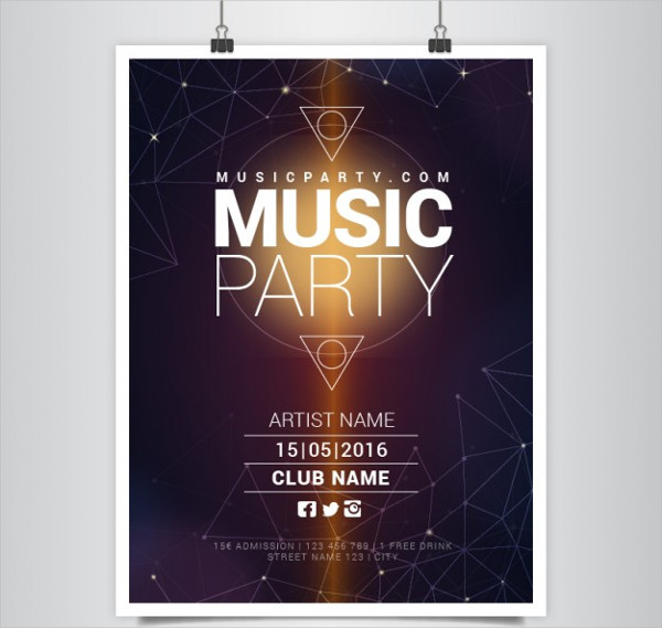 Modern Music Party Poster Free Download