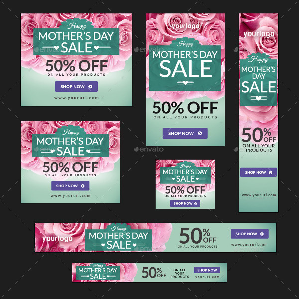 Mothers Day Storewide Sale Template: 45+ Mother's Day Banner Templates