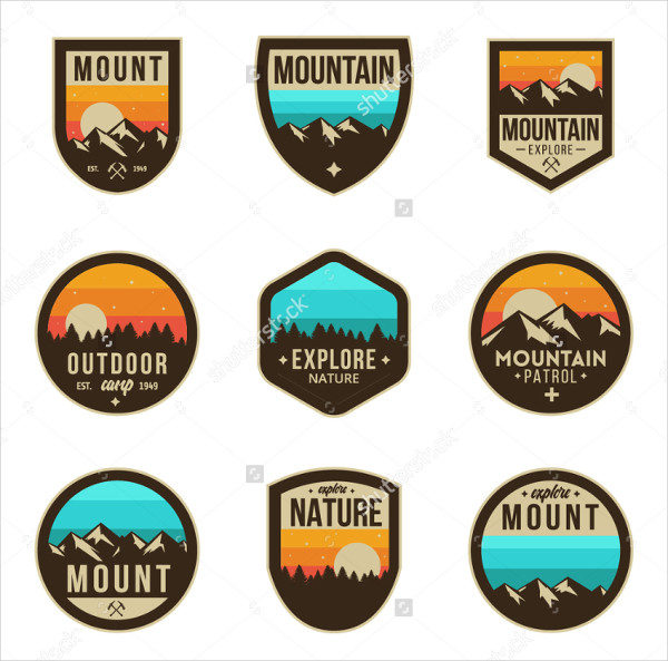 Mountain Logo Badge Collection