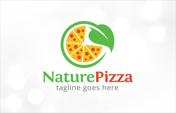 Nature Pizza Shop Logo Template Design
