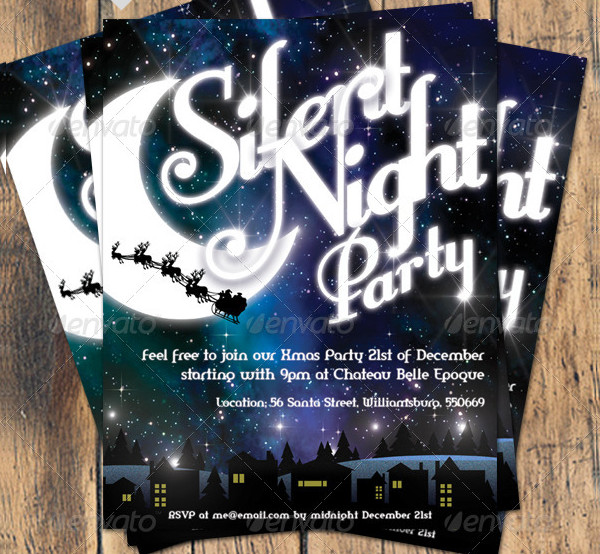 Night Party Invitation Template